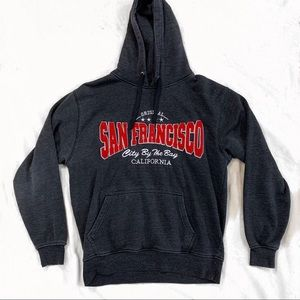 San Francisco Sweater Red Lettering